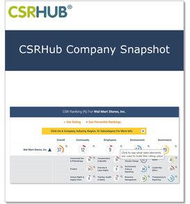 Csrhub company snapshot